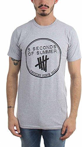 hombres los segundos verano de gris camiseta de 5 0wqYTY