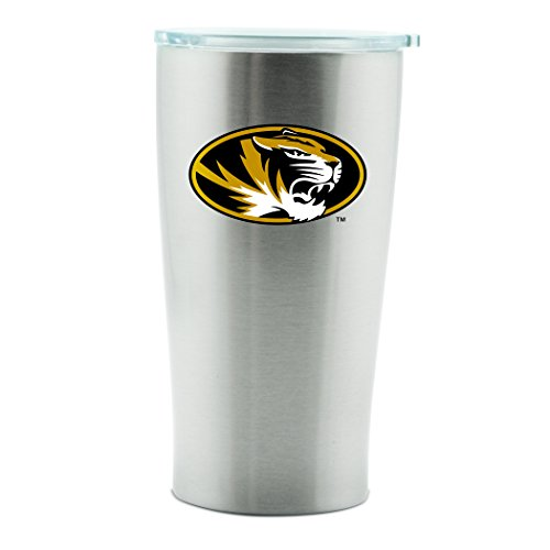 NCAA Missouri Tigers 14oz Double Wall Stainless Steel Thermo Cup with Lid