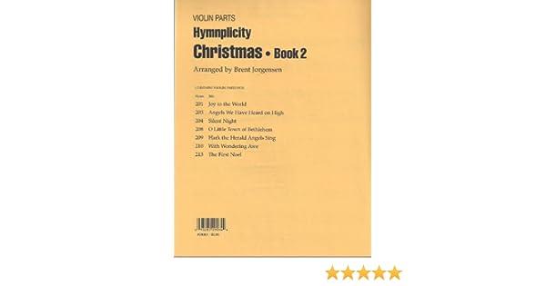 Hymnplicity Christmas Book 2 Violin Parts Brent Jorgensen