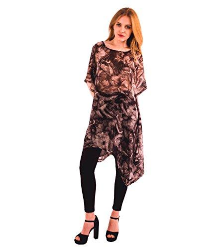 Camiseta para mujer, holgada, túnica ligera de gasa de verano Estilo 2