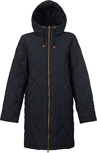 Burton Tech Flannel - Burton Women's Bixby Long Down Jacket, True Black, Medium