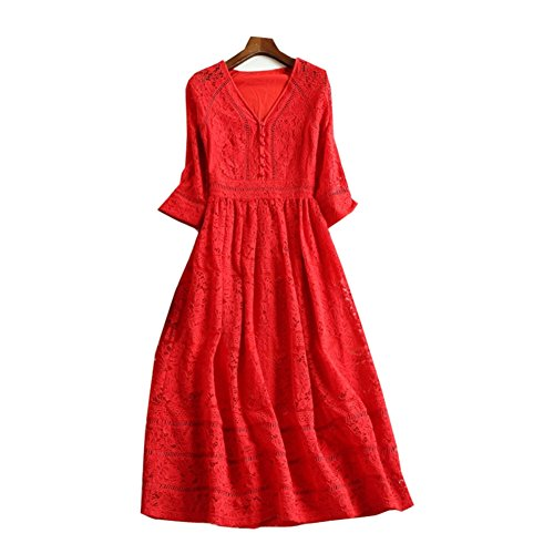 JBZYM VD79051C3 Seven In The Long Skirt Women Dresses - Size XXL (Fake Blood Recipes)