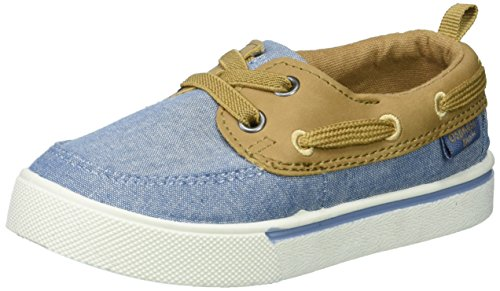 Image of OshKosh B'Gosh Albie Boy's Boat Shoe, tan, 10 M US Toddler