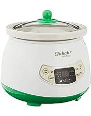 Takahi 1691 Electric Porridge and Soup Maker 0.8-Litre, White/Green