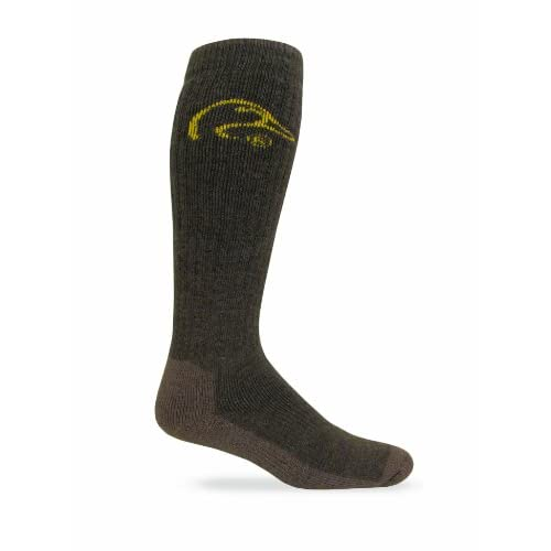 Hot Ducks Unlimited Men's Tall Outdoor Boot Socks (1-Pair), Olive, Large for cheap