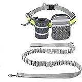 EDUPLINK Retractable Dog Leash Hands Free Dog Leash for 331Lb Pull+ Adjustable Belt+ 2 Sundries Pocket for Training/Running/W