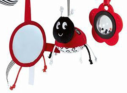 Ladybug Safety Mirror Wrap Around Crib Infant Seat Spiral