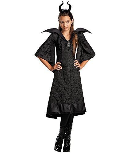 Costumes Movie Characters (Disney Maleficent Movie Christening Black Gown Girls Classic Costume Lg 10-12)