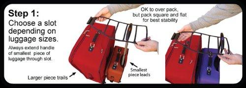 Club Glove Train Reaction Device Black - Koffer Verbundsystem für Reisetrolleys, Reisetaschen, Koffer, Gepäck, (Trolley Strap)
