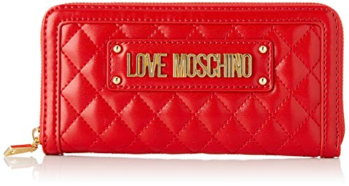 Love Moschino Quilted Nappa Pu, Women's, Red (Rosso), 15x10x15 cm (W x H L) ()