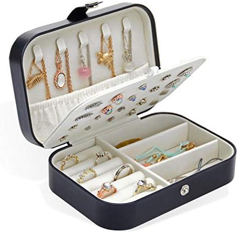 AKOZLIN ジュエリーボックス アクセサリー 収納 携帯 ジュエリー収納 ミニ宝石箱 携帯用 持ち運び トラベル ピアス ジ