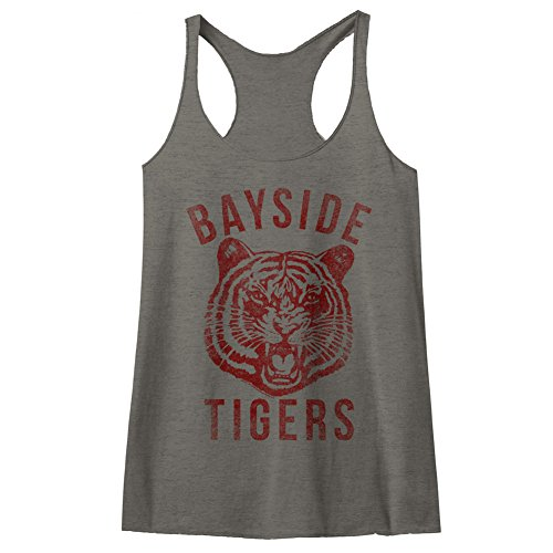 American Classics Saved by The Bell 80s Comedy Sitcom Bayside Tigers Womens Racerback Tank Top Tee ()