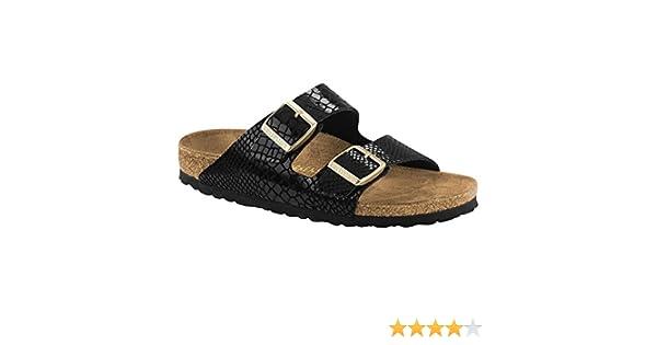 Amazon | Birkenstock Women's Arizona BirkoFlo Blacksnake Sandals  38  N EU|77 5 2AN US | Sandals