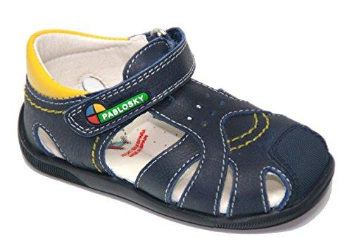 Sandalias de Piel Azul Marino de Pablosky, Modelo 076126. Azul