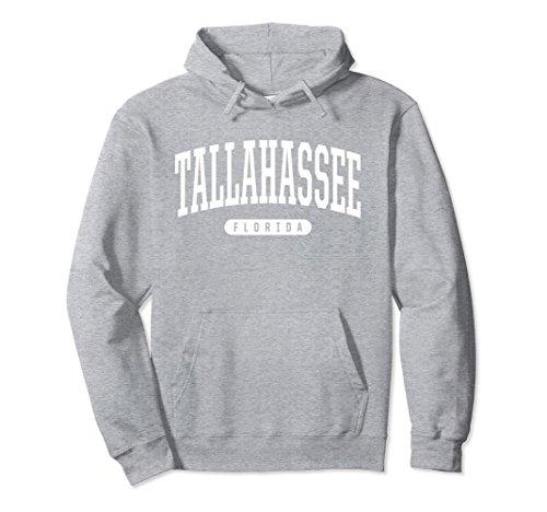 Unisex Tallahassee Hoodie Sweatshirt College University Style FL US 2XL Heather - Tallahassee U Fit