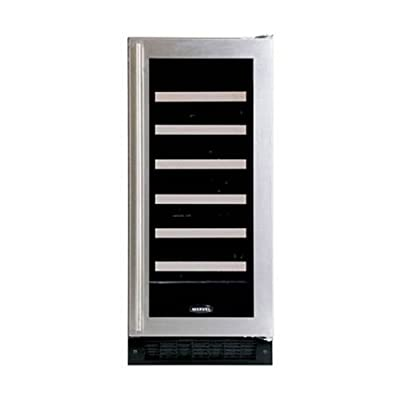 Marvel 30WCM-BS-G-L Wine Cellar with Glass Door, Left Hinge, 15-Inch, Stainless Steel