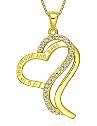 """Victoria Jewelry """"I Love You To The Moon and Back"""" 18K..."""