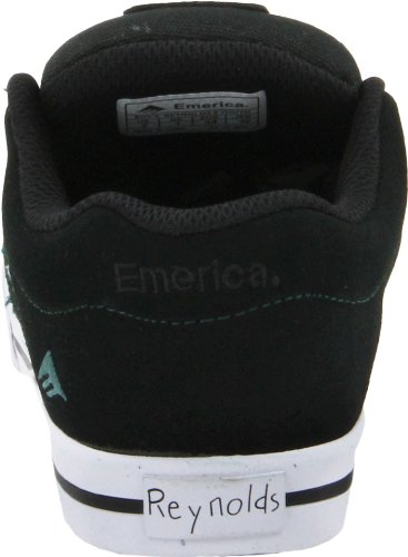 Emerica REYNOLDS 3 YOUTH 6302000006, Unisex - Kinder Sportschuhe - Skateboarding, Schwarz (black/white/green), EU 36 (US 4)