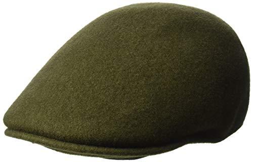 Kangol Men's Seamless Wool 507 Flat Ivy Cap HAT, Loden, XL (Wool Loden Green)