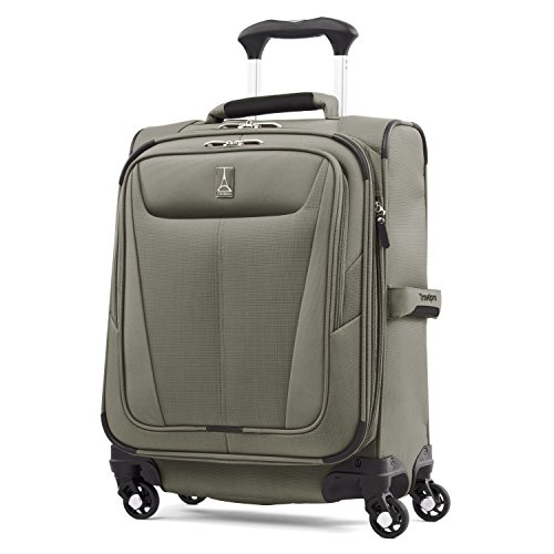 Travelpro Luggage Maxlite 5 20' Lightweight Carry-on Intl Expandable Spinner Suitcase, Slate Green