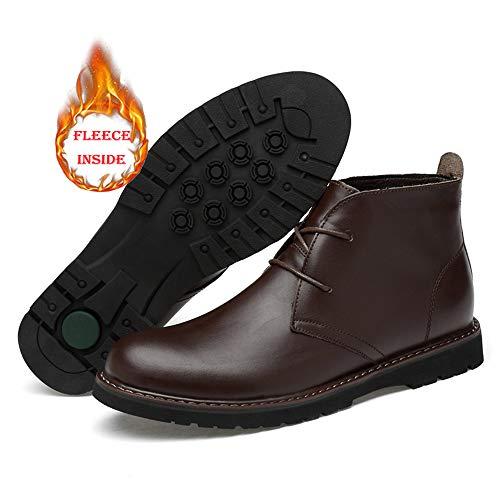 end Dimensione Warm uomo in Xujw da High Color Nero Stivali 36 2018 calde oxford cotone opzionale pelle High Uomo New da Casual EU shoes scarpe Stivaletti da lavoro Top Brown Soft convenzionale 6ZZx0