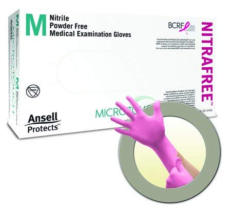 (Ansell Perry 6034512 MicroTouch NitraFree Gloves Medium 100/Bx )