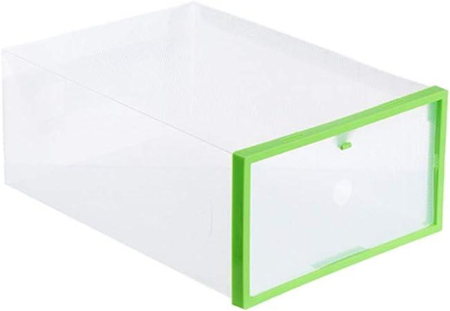 BYSDSG Organizador de Zapatos Cajón de plástico Transparente Caja de Almacenamiento Rectángulo PP Engrosado Zapatos Organizador Cajón Cajas de Zapatos en Cajas de Almacenamiento, Verde Claro: Amazon.es: Hogar