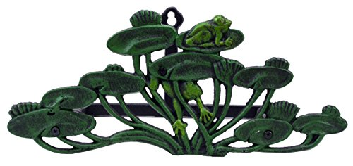 Import Wholesales Garden Hose Holder Frogs On Lily Pads Cast Iron 13.75
