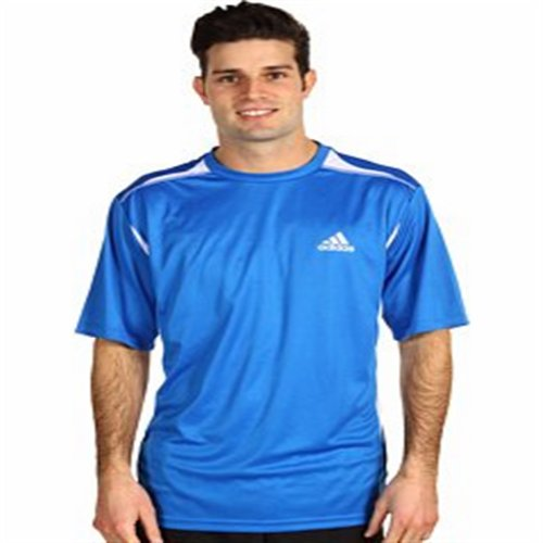 Adidas Max S-S Tee Prime Blue-White (Size: Large)