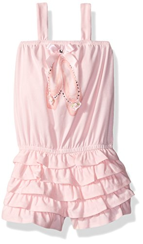 Kate Mack Little Girls' Prima Ballerina Romper, Pink, 6 (Mack Bow Kate)