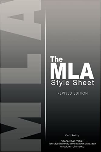 the mla style sheet revised edition modern language association
