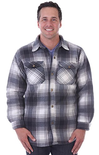Woodland Supply Co. Mens' Thermal Lined Plaid Outerwear Shirt - Woodland Thermal