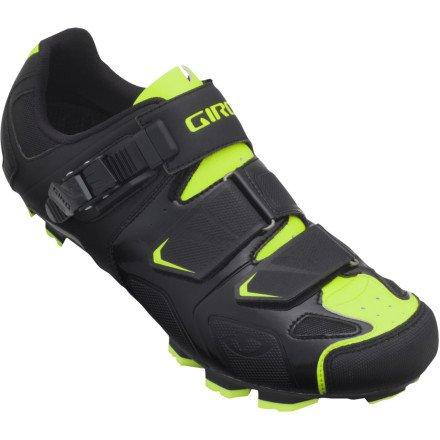 Giro 2013 Mens Gauge Mountain Bike Shoes (Black/Highlight Yellow - 42)