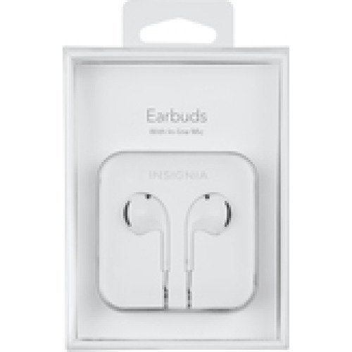 Insignia Earbud Headphones White for apple iPhone iPod nano 6s,6,5s,5 with vol control (Apple Earbuds Ipod Nano)