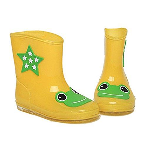 Jovem Sapatos Sapatos Chuva Crianças Toogoo Criança Fundamental 18 Botas Galochas Ensino Unisex De Infantil Centímetros Júnior De Crianças Chuva Amarelo r Do De Bonito RPdzwdx