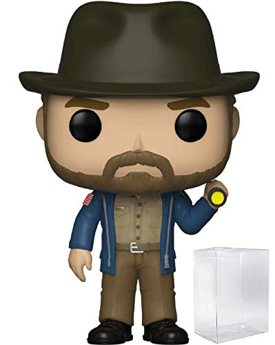 - Funko Pop! Stranger Things - Hopper with Flashlight Vinyl Figure (Includes Pop Box Protector Case)
