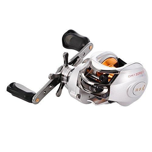 Isafish baitcaster reels left right handed baitcasting for Fishing reels baitcaster
