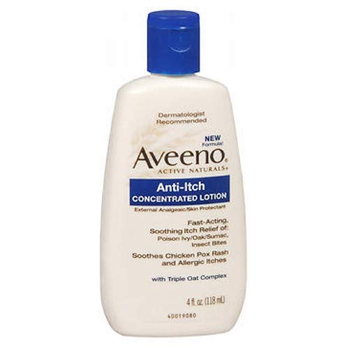 AVEENO Anti-Itch Lotion 4 oz (3 Pack) (Best Lotion For Chickenpox)
