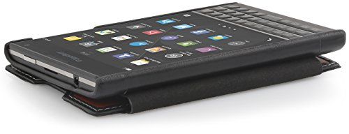 StilGut Book Type, Genuine Leather Case for BlackBerry Passport, Brown & Black Nappa by StilGut (Image #5)