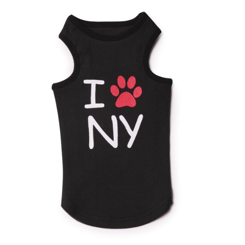 Casual Canine Cotton I Paw NY City Dog Tank, X-Small, 10-Inch, My Pet Supplies