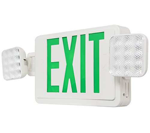 Westgate Lighting LED Exit Sign - High-Impact LED Exit and Emergency Light - UL Listed. 120-277V - 3 Year Warranty (1 Pack, Green)