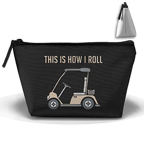 Louise Morrison This Is How I Roll Golf Cart Funny Golfers Pen Stationery Pencil Case Cosmetic Makeup Bag Pouch ()