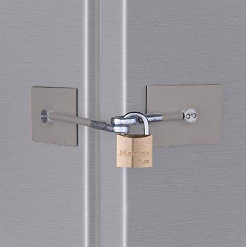 Stainless Steel Refrigerator Door Lock with Padlock