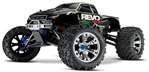 Traxxas Revo 3.3: 1 10 Scale 4WD Nitro-Powered Monster Truck with TQi 2.4GHz Radio & TSM - Green