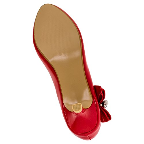Rot Jili Zapatos colores Wunderschöne muchos tacón en de 137rt de de mujer OxXpPqTw