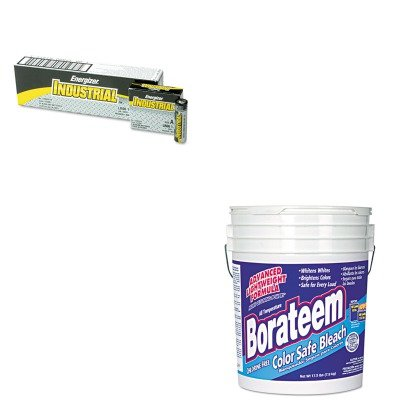 KITDPR00145EVEEN91 - Value Kit - Dial Color Safe Bleach (DPR00145) and Energizer Industrial Alkaline Batteries (EVEEN91)