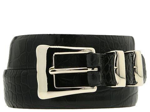 Torino Leather Co. Men's 32-25MM Alligator Embossed Calf Black 42