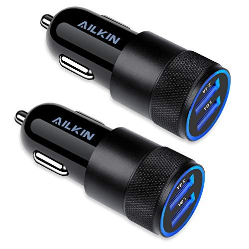 Car Charger, [2Pack] 3.4a Fast Charge Dual Port USB Cargador Carro Lighter Adapter for iPhone X XR XS Max 8 Plus 7s 6s…