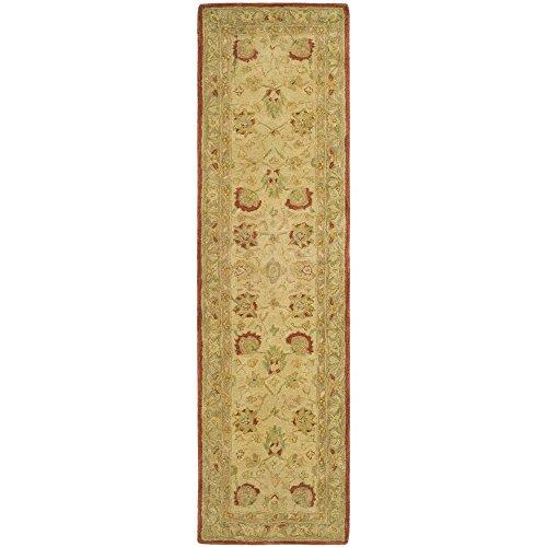 Safavieh Anatolia Collection AN512E Handmade Traditional Oriental Beige and Rust Premium Wool Runner (2'3