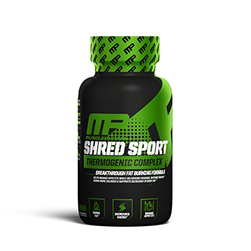 MusclePharm Shred Sport Thermogenic Fat Burner Weight Loss Supplement, 60 Count (Shred Supplement)
